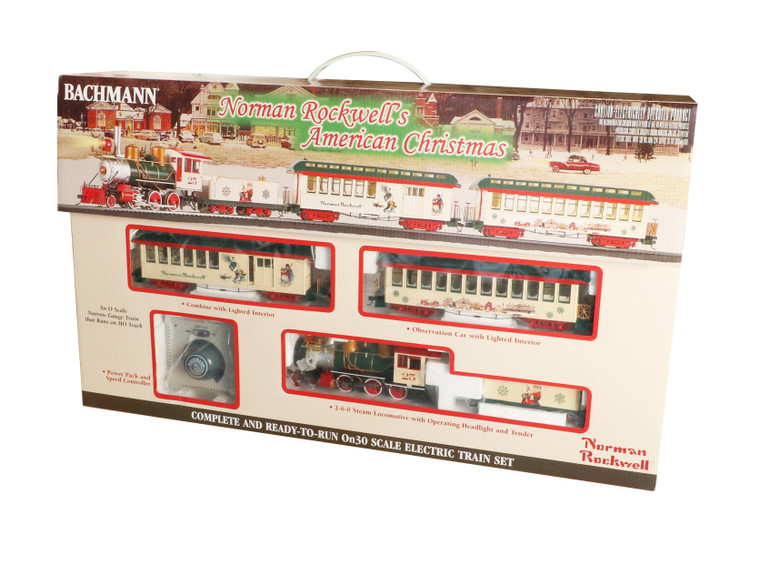 Norman Rockwell's American Christmas Train Set On30 Scale