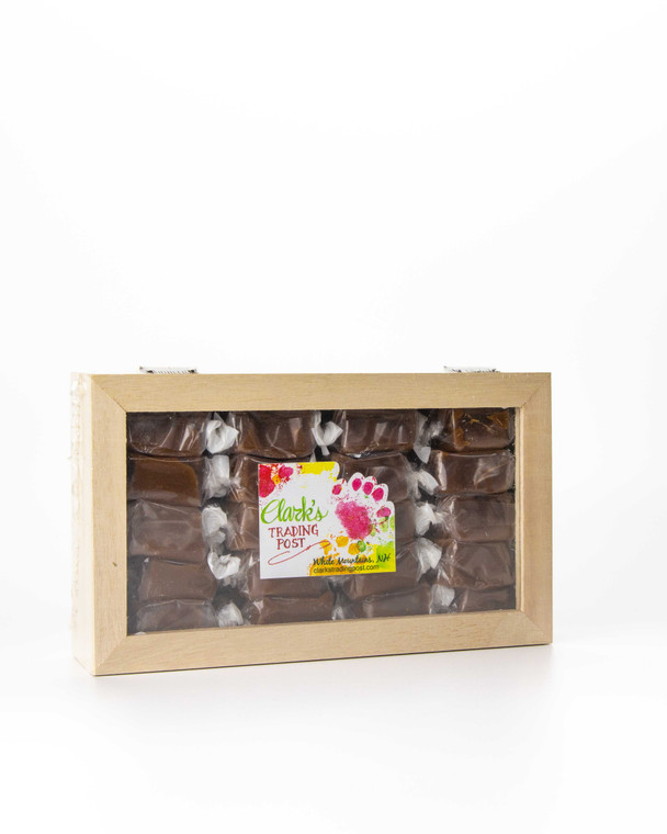 Gourmet Caramels with Wooden Gift Box
