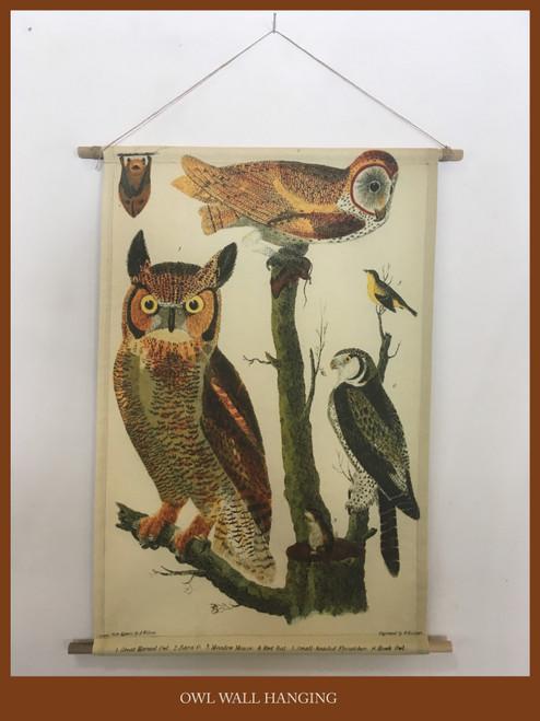 Wall Hanging - Owl & Bat