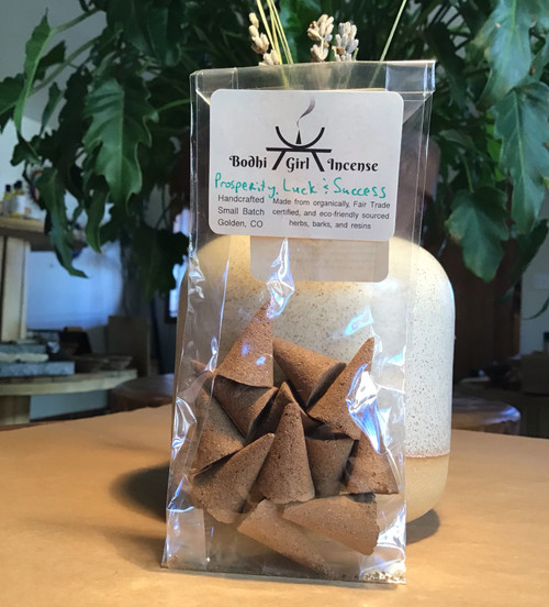 Incense Cones:  Prosperity, Luck & Success