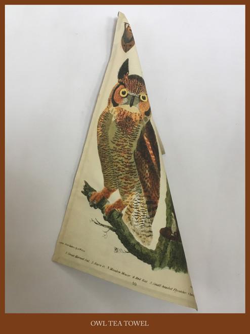 Tea Towel - Owl & Bat