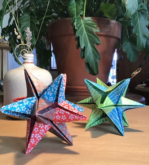 Large Origami Star Ornament