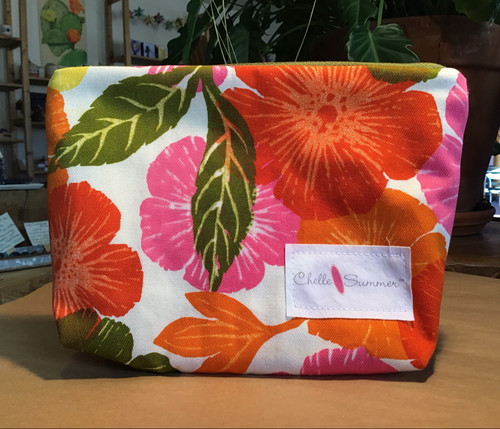 Accessory / Make-up Bag / Zippette - Orange Flowers