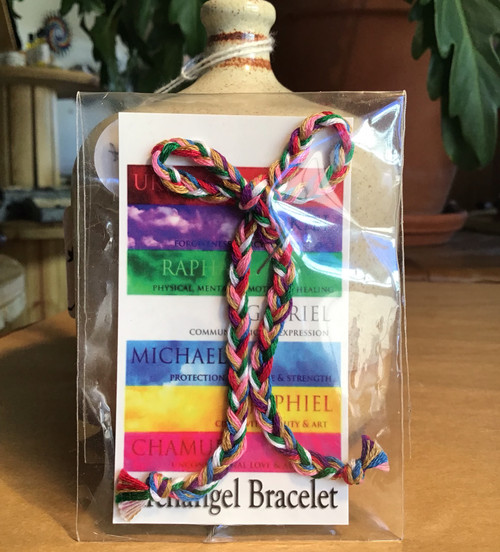 Bracelet: Hand-Braided Angel Prayer Bracelet