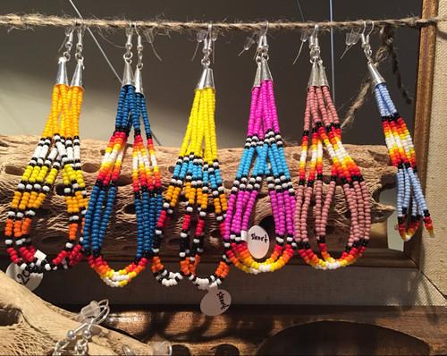 Earrings: Beaded Drop Earrings - Short