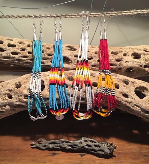 Earrings: Beaded Drop Earrings - Long