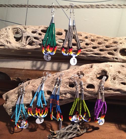 Earrings: Beaded Drop Earrings - Mini