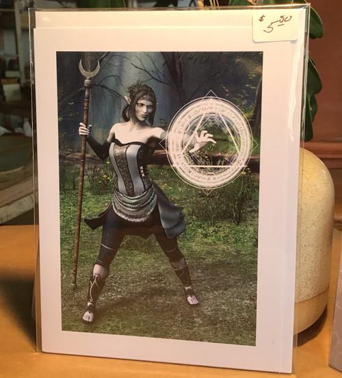 Fantasy Greeting Card: Guardian of the Spirit (Mairyah)