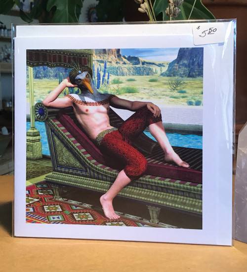 Fantasy Greeting Card: Thoth on a Barge