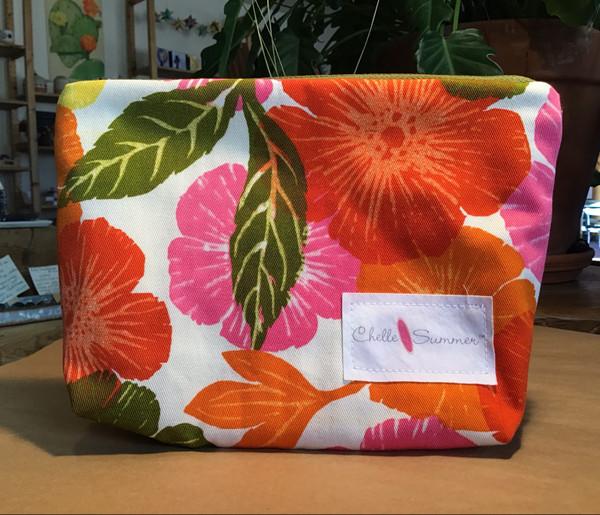 Accessory / Make-up Bag / Zippette - Orange Flowers