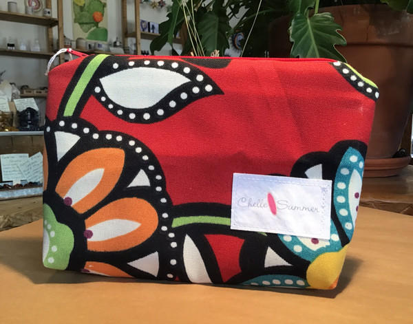 Accessory / Make-up Bag / Zippette - Red Flowers
