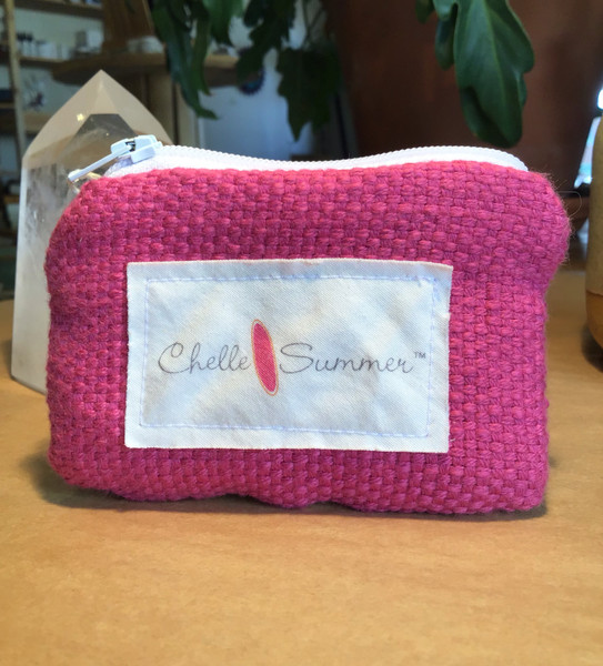 Coin Purse - Hot Pink Stripes