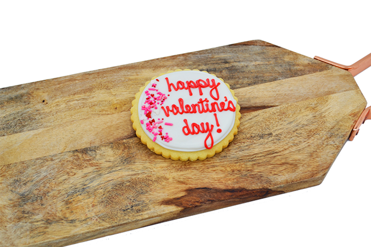 Platter's Chocolates Happy Valentine's Day Shortbread Cookie