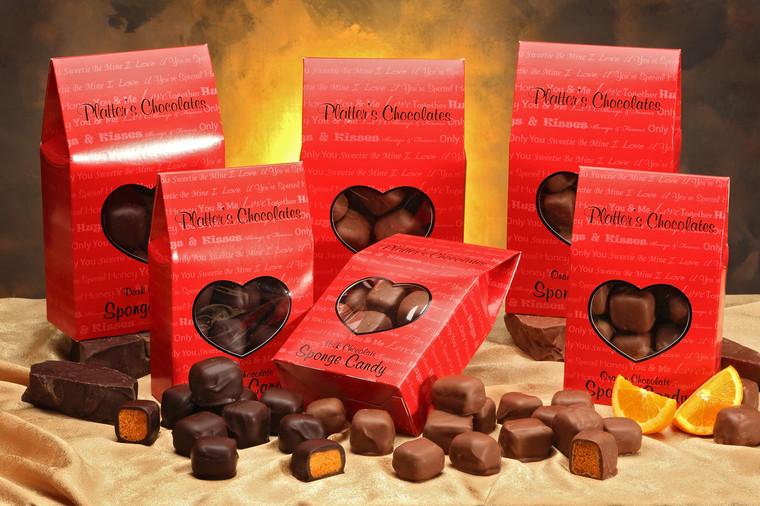 Platter's Chocolate Sponge Candy in Valentine Box