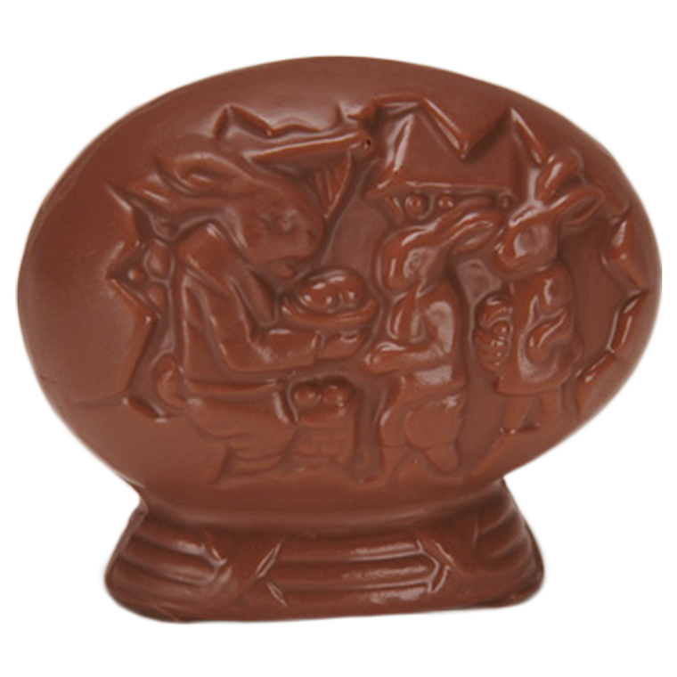 Chocolate Pedestal Egg is available in Milk Chocolate & Orange Chocolate