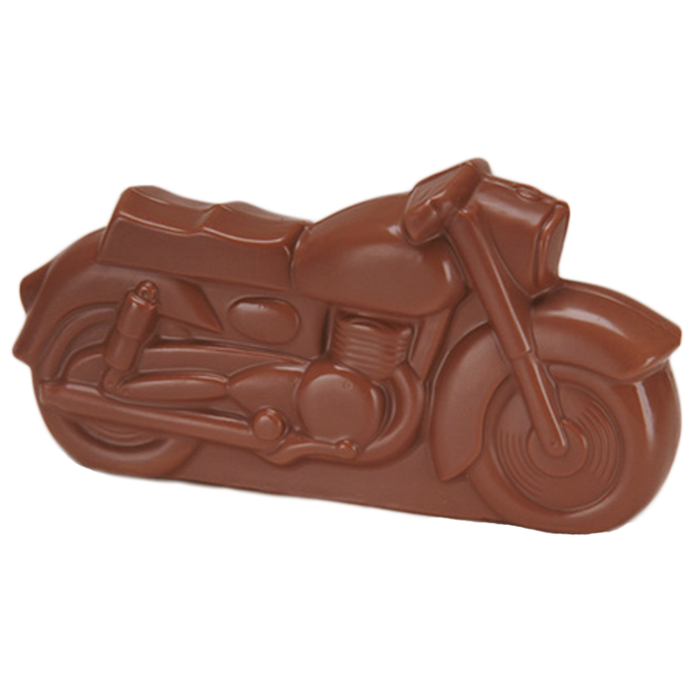 Chocolate Motorcycle is available in Milk Chocolate & Orange Chocolate