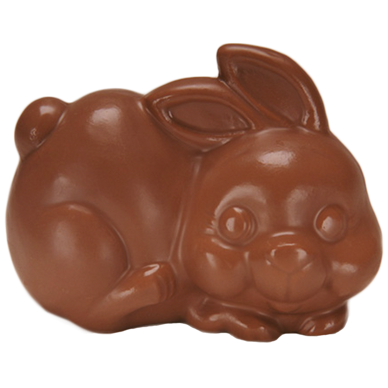 Pudgie Bunny is available in Milk Chocolate & Orange Chocolate
