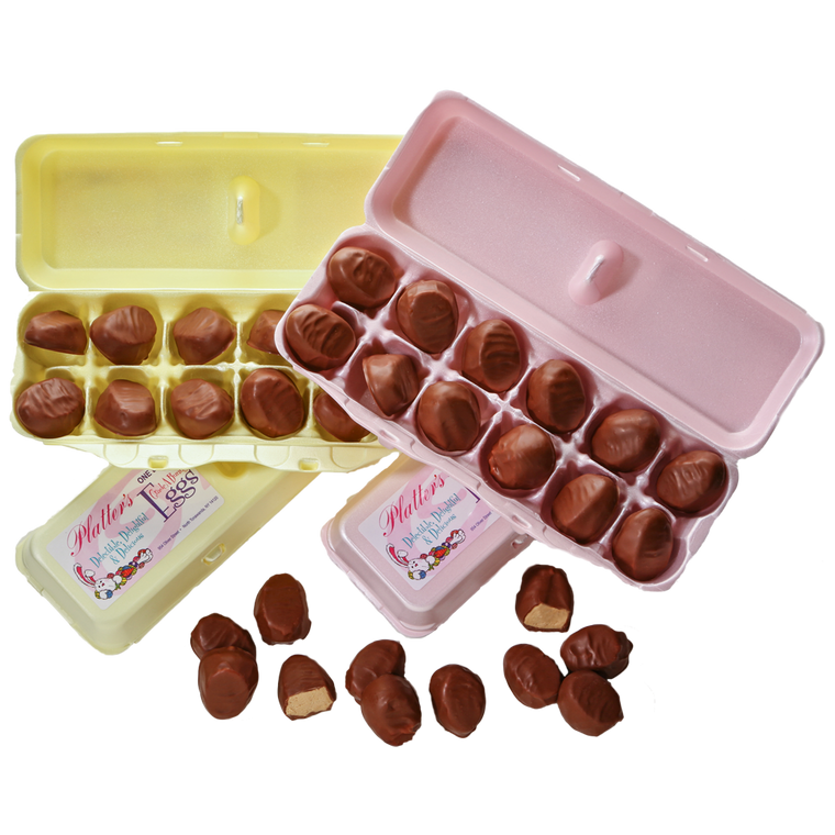 Milk Chocolate and Dark Chocolate Bunny Crate Eggs