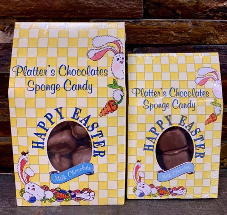 Easter Chocolate Sponge Candy is available in 8 oz. or 16 oz. Easter Candy Boxes