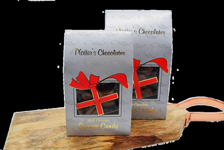 Platter's Milk Chocolate Sponge Candy - Christmas Box