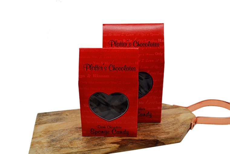 Platter's Dark Chocolate Sponge Candy - Valentine Box