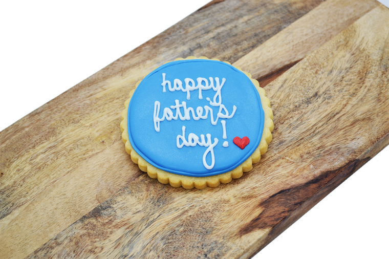 Happy Father's Day Shortbread Cookie