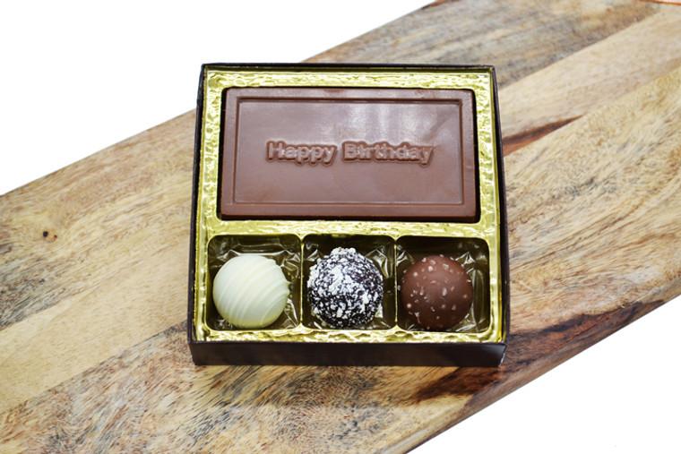 Happy Birthday Bar & 3 Truffles