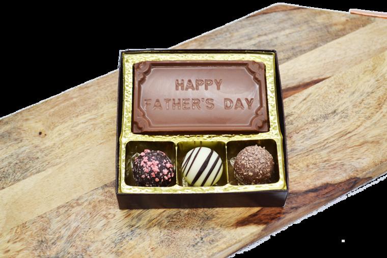 Happy Father's Day Bar & 3 Truffles