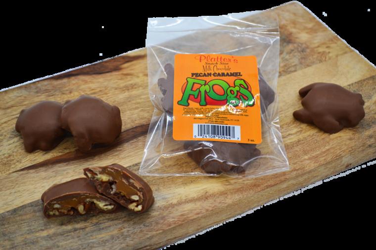 Snack Sized Milk Chocolate Pecan Frogs