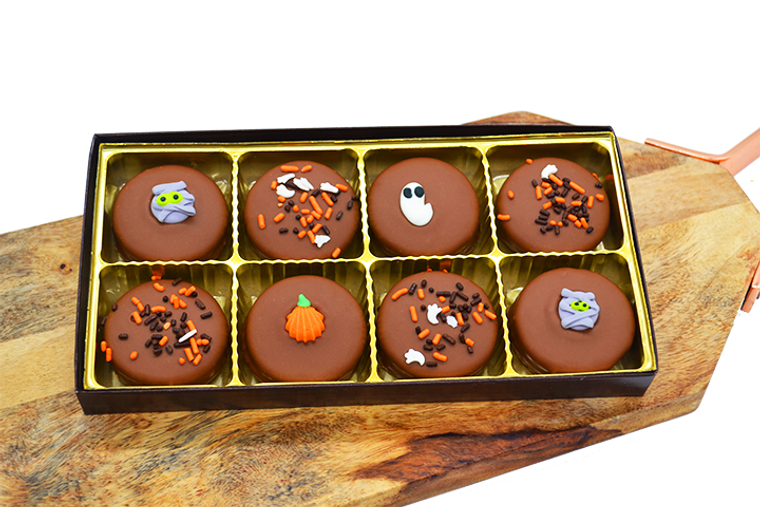 Platter's Halloween Chocolate Covered Oreos 8 pack