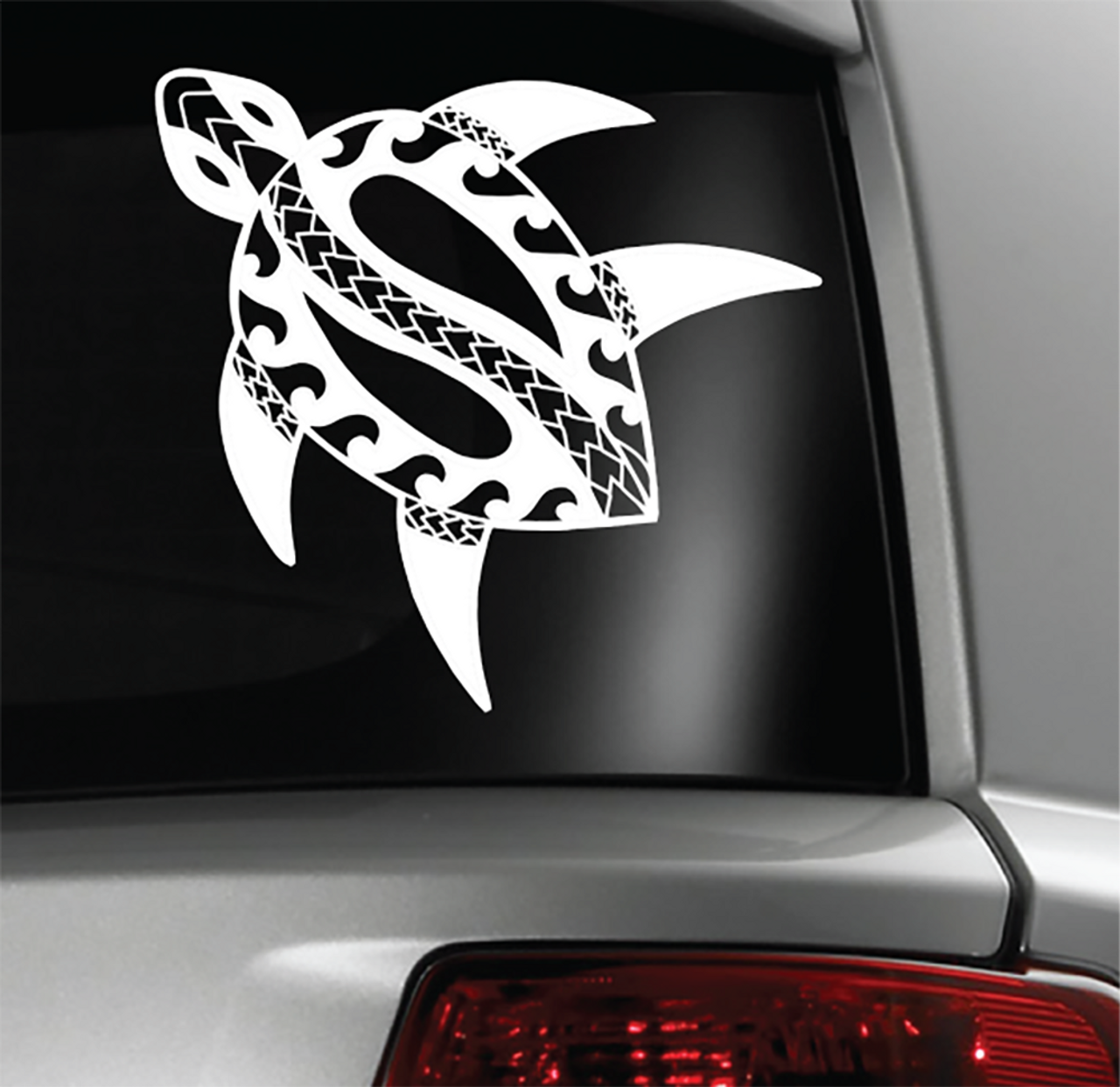 Tribal turtle sticker decal guam hawaii tonga samoa philippines