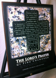 Our Lord's Prayer in Chamorro (Black) on Fine-Art Plaque - Front View