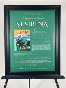 Legend of Guam Si Sirena Illustrated Story on Poster - 18x24 (frame not included)