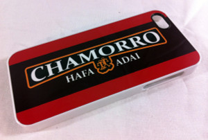 Guam-CNMI Chamorro Hafa Adai Motif iPhone Case. Fits models 4, 4s, and 5s.
