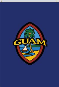 Vertical Modern Guam Seal Flag