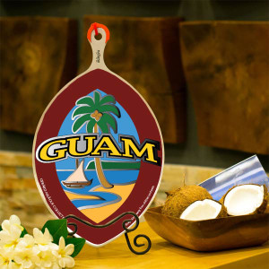 iKamyu Aluminum Coconut Grater w/Modern Guam Seal - Shown without Artwork Affixed