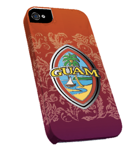 Full-Wrap i-Phone Case w/Modern Guam Seal Design w/Flourishes (Snap-on) - Left view