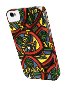 iPhone 5 Tough Case - Modern Guam Seal Patch Motif (Snap-on Case with tough liner not shown)