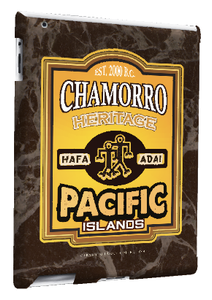 iPad 2, 3, and 4 (Retina Display) - Chamorro Heritage Motif - Back view