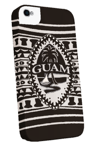 iPhone 5 Tough Case - Tribal Modern Guam Seal Motif - Left  View