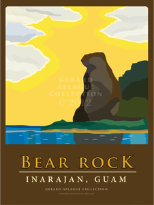 Bear Rock - Guam - 18x24 Illustration [FBO]