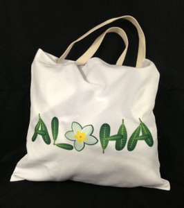 This Aloha designed soft tote bag is printed on both sides. (Back)