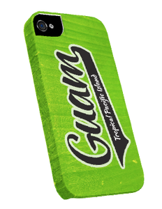iPhone 5 w/Guam Logo on Banana Leaf Motif - Snap-on Cover