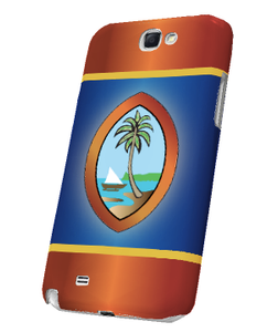 Samsung Galaxy Note 2 Snap-On Case w/Traditional Guam Seal (No Words) Motif - Right View
