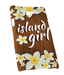 Samsung Galaxy S2 Snap-On Case w/Oak Island Girl Motif - Left View
