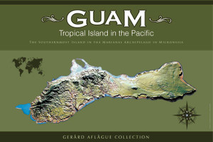 Guam Gift | Guam Poster | Home and Office Decor Poster | Island of Guam Topology Illustration - Tropical Island in the Pacific