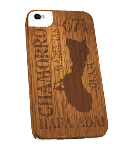 Guam Symbols w/Wood Motif for iPhone Cases