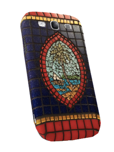 Samsung Galaxy S3 Case w/Blue Modern Guam Seal Mosaic Motif - Left View