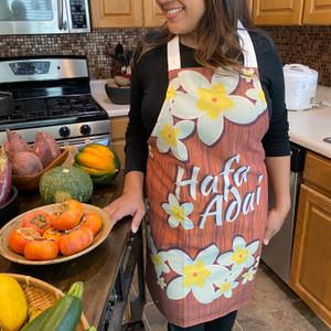 Hafa Adai Polyester/Cotton Full-Size Apron