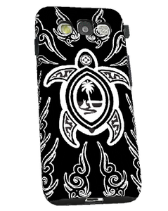 Tribal Turtle Guam Seal Motif - Samsung Galaxy S3 Snap-On Cover (Left View)